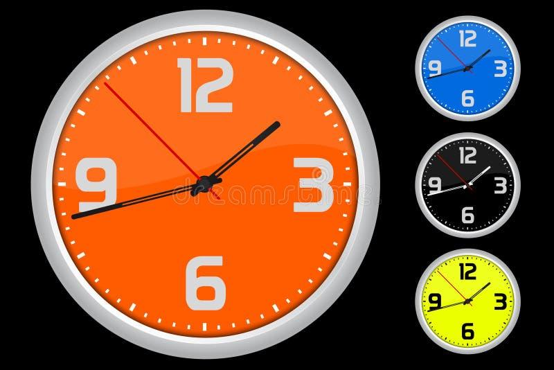 zegar barwiący royalty ilustracja
