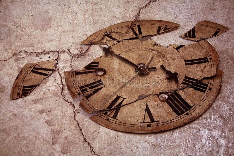 zegar fasonujący stary fotografia stock