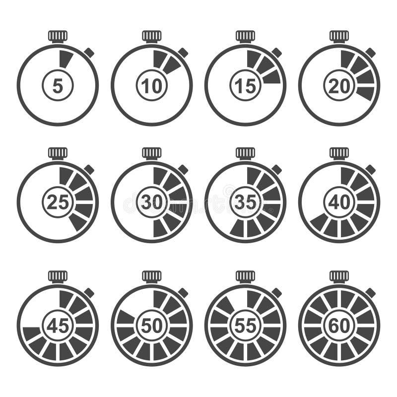 Zegar ikony set royalty ilustracja