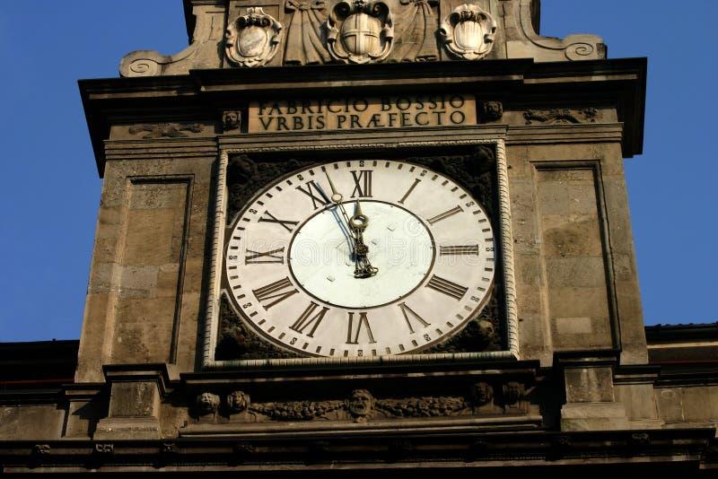 zegar Milan zdjęcia stock