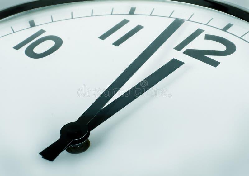zegar minutes o dwanaście obraz royalty free
