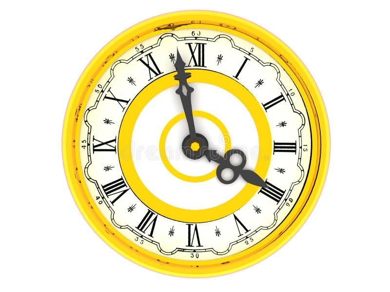 zegar o 4 royalty ilustracja