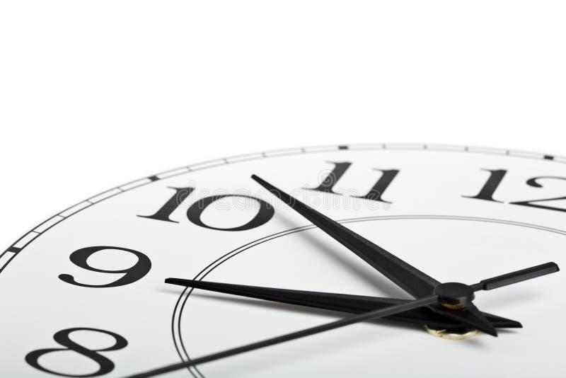 zegar odizolowywał czas pokazywać biel dziewięć obraz royalty free