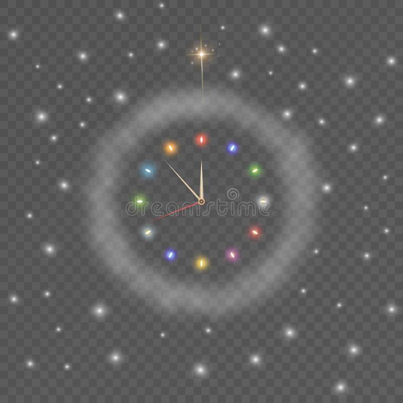 Zegar odizolowywający na przejrzystym tle royalty ilustracja