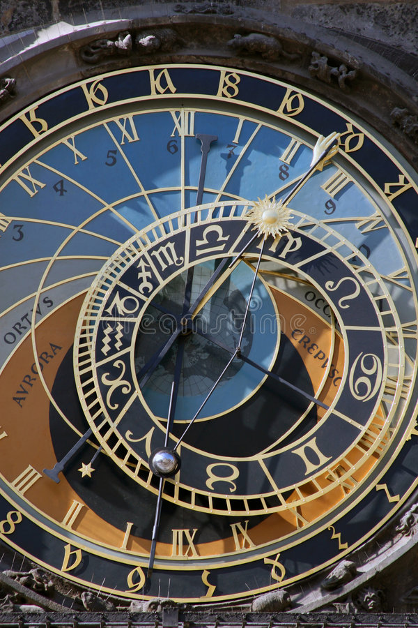 zegar orloj Prague astronomiczne fotografia stock