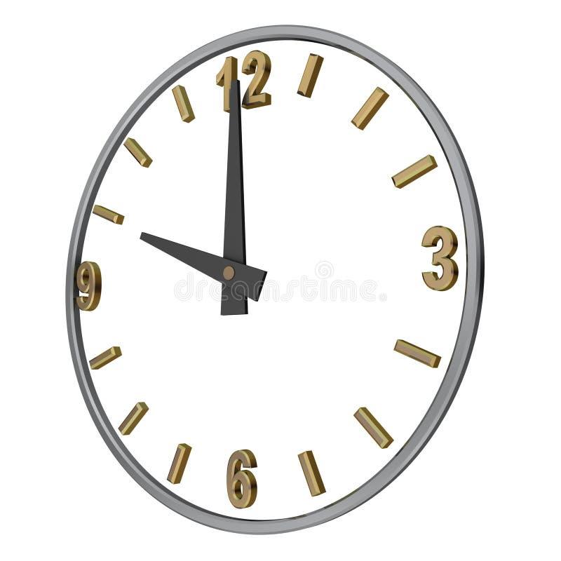 zegar otwarty ilustracji