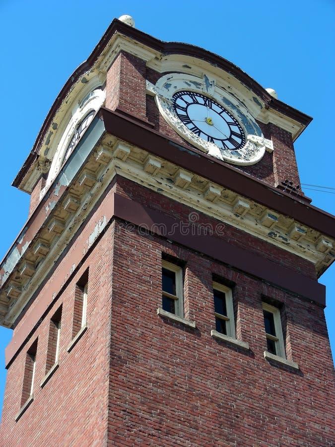 zegar pożar domu zdjęcia royalty free