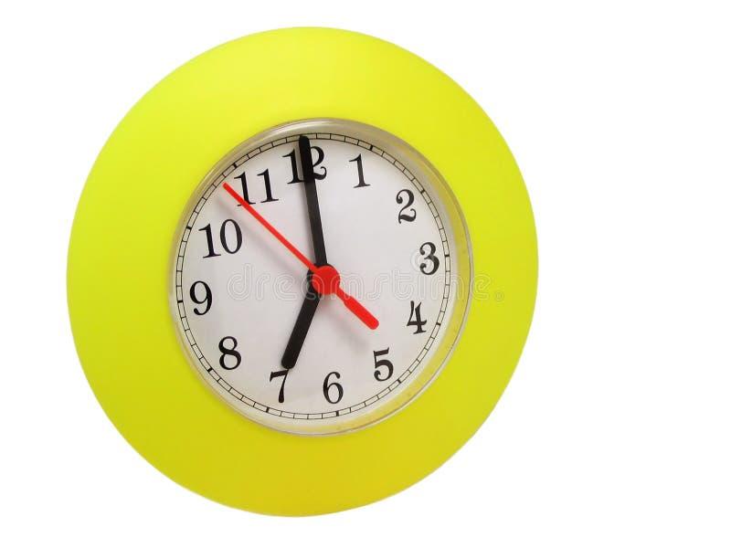 Zegar Pojedynczy żółty Zdjęcia Stock