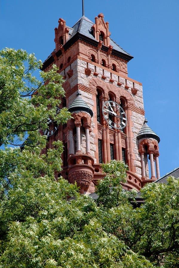 zegar sądu wieży waxahachie Teksas zdjęcia royalty free