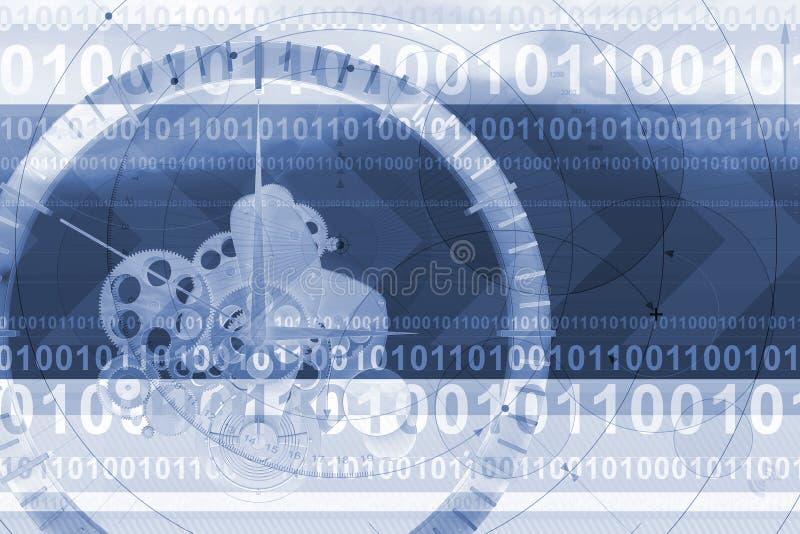 zegar tła techno ilustracji
