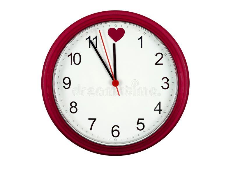 zegar valentines zdjęcia stock