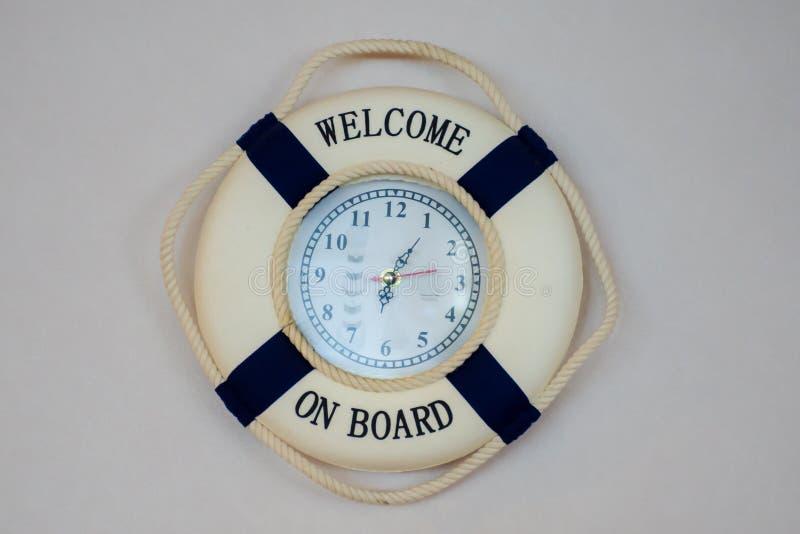Zegar w formie lifebelt obrazy stock