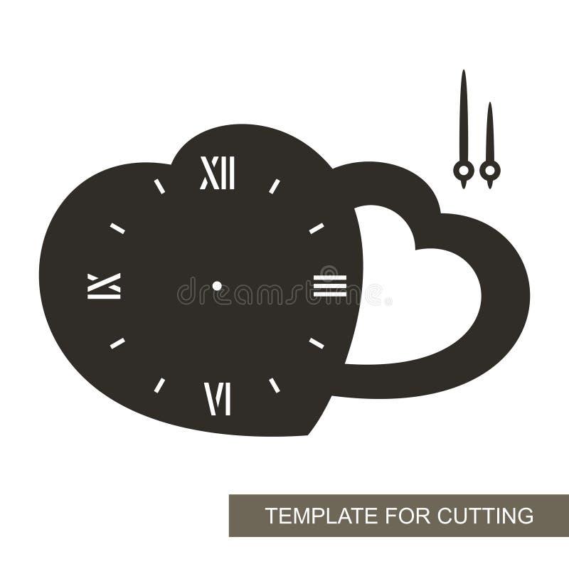 Zegar w formie słowo miłości ilustracji