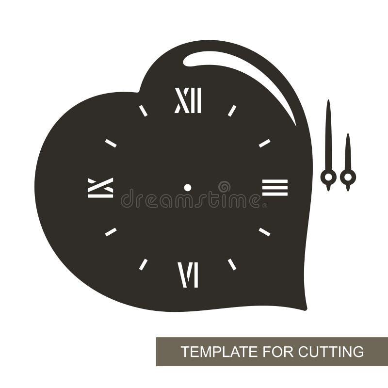 Zegar w formie serca ilustracji