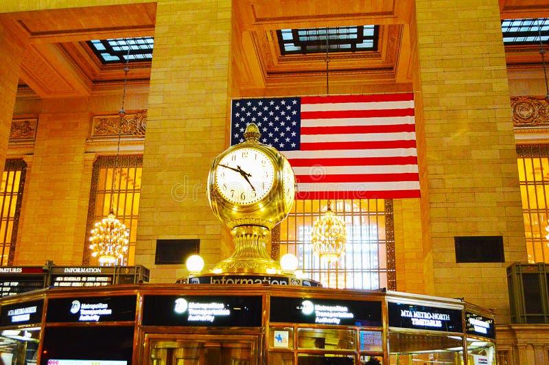 Zegar w Uroczystym Środkowym Terminal w Miasto Nowy Jork zdjęcie royalty free