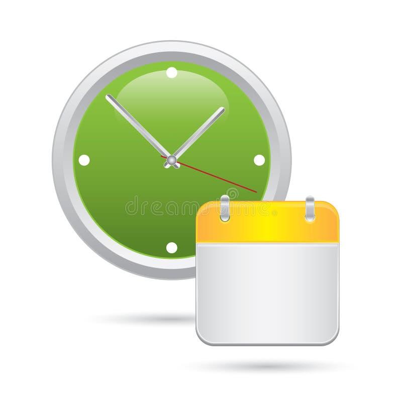 Zegar z kalendarzem ilustracji