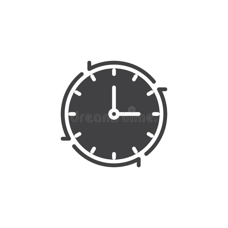 Zegar z Strzałkowatą wektorową ikoną royalty ilustracja