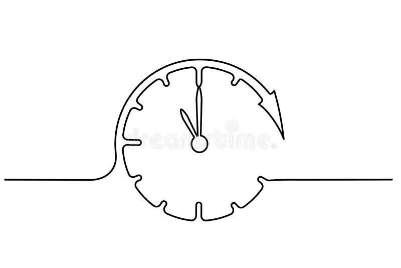 Zegar z strzały ikoną na białym tle ilustracja wektor