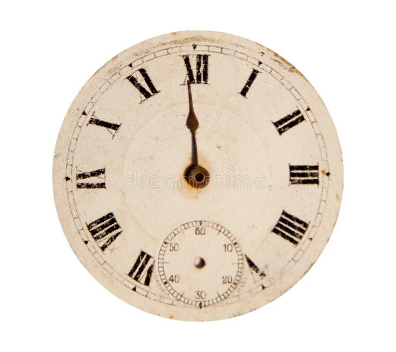 Zegarek antykwarska twarz zdjęcie royalty free