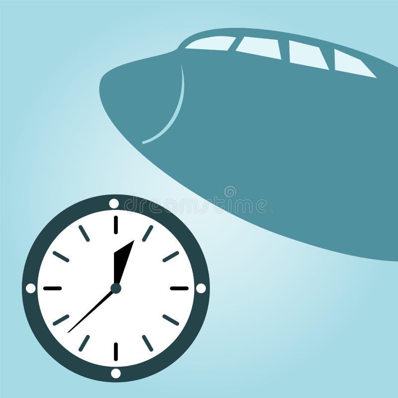 Zegarek i samolot royalty ilustracja