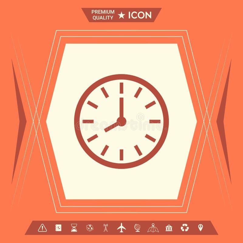 Zegarek ikony symbol royalty ilustracja