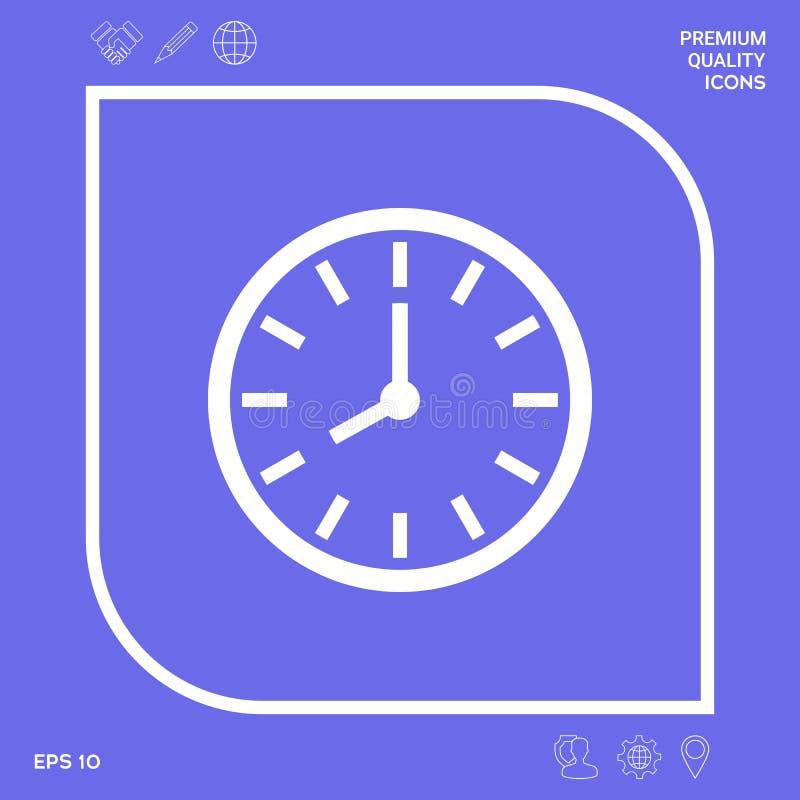 Zegarek ikony symbol Graficzni elementy dla twój projekta royalty ilustracja