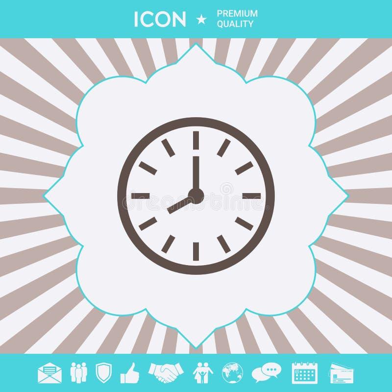 Zegarek ikony symbol Graficzni elementy dla tw?j projekta royalty ilustracja