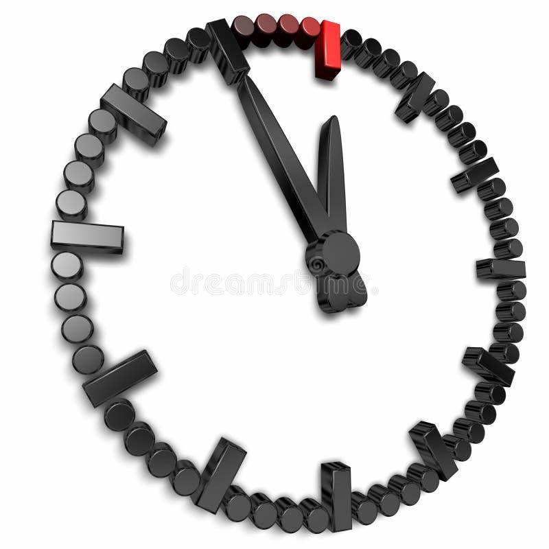zegarek pięć minuta zegarek dwanaście ilustracja wektor