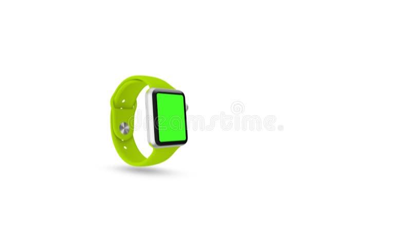 Zegarek technologia z zielenią na ekranie royalty ilustracja
