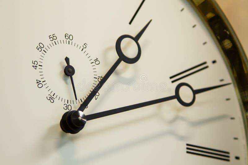 Zegarek twarz z drugi hand& obraz stock