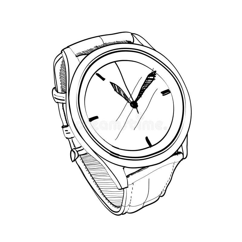 Zegarka nakreślenie royalty ilustracja