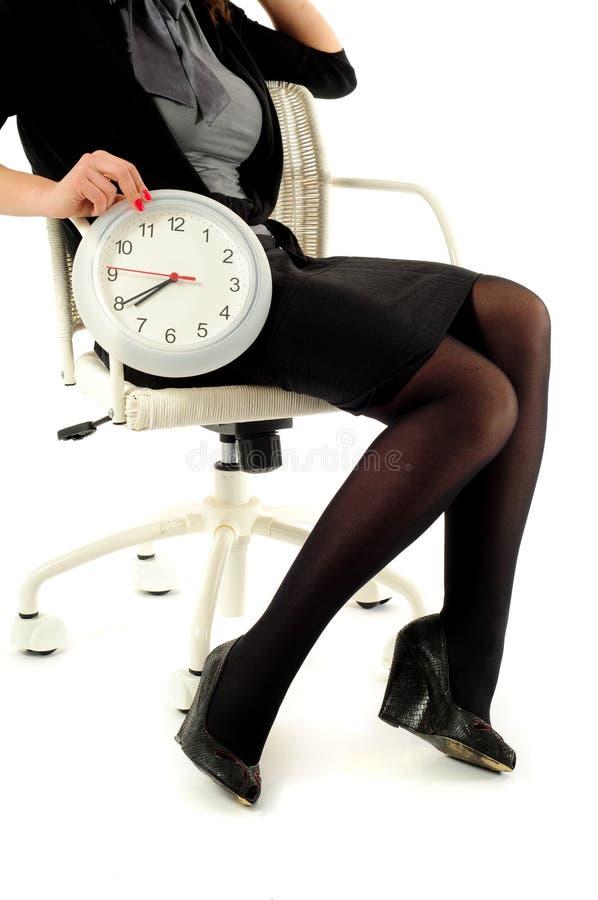 zegarowa biznes kobieta zdjęcie royalty free