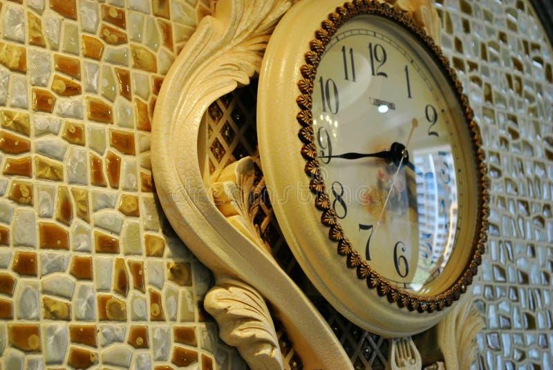 zegarowa dekoraci domu ściana fotografia royalty free
