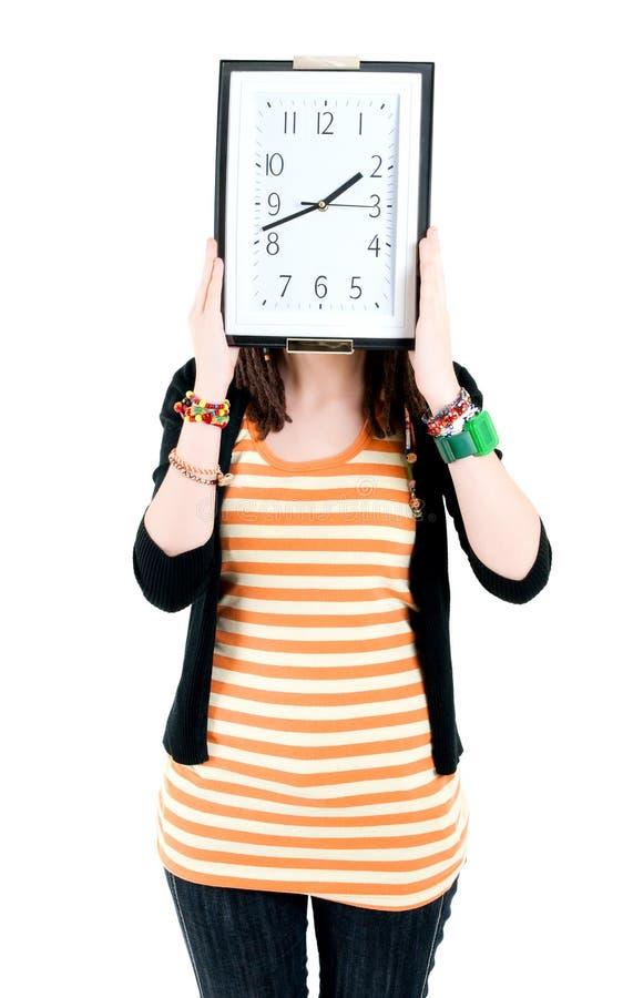zegarowa dziewczyna zdjęcie royalty free
