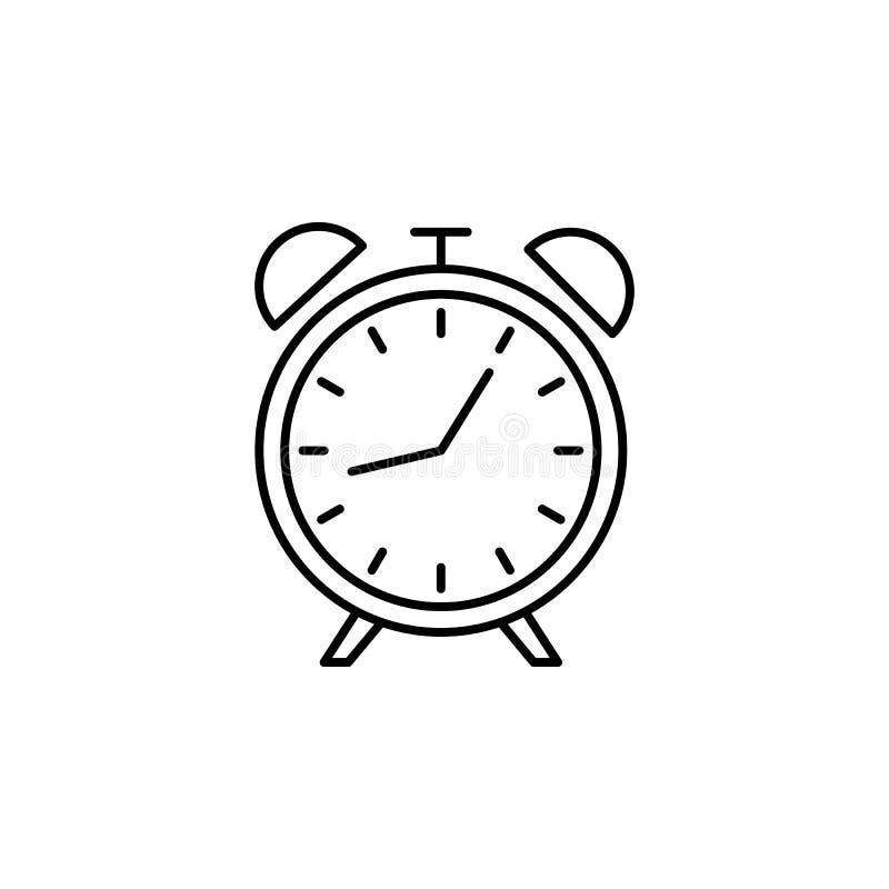 Zegarowa kontur ikona Element styl życia ilustracji ikona Premii ilo?ci graficzny projekt Znaki i symbol inkasowa ikona dla ilustracja wektor