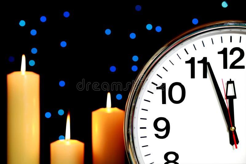 zegarowa północ minutes set trzy obrazy stock