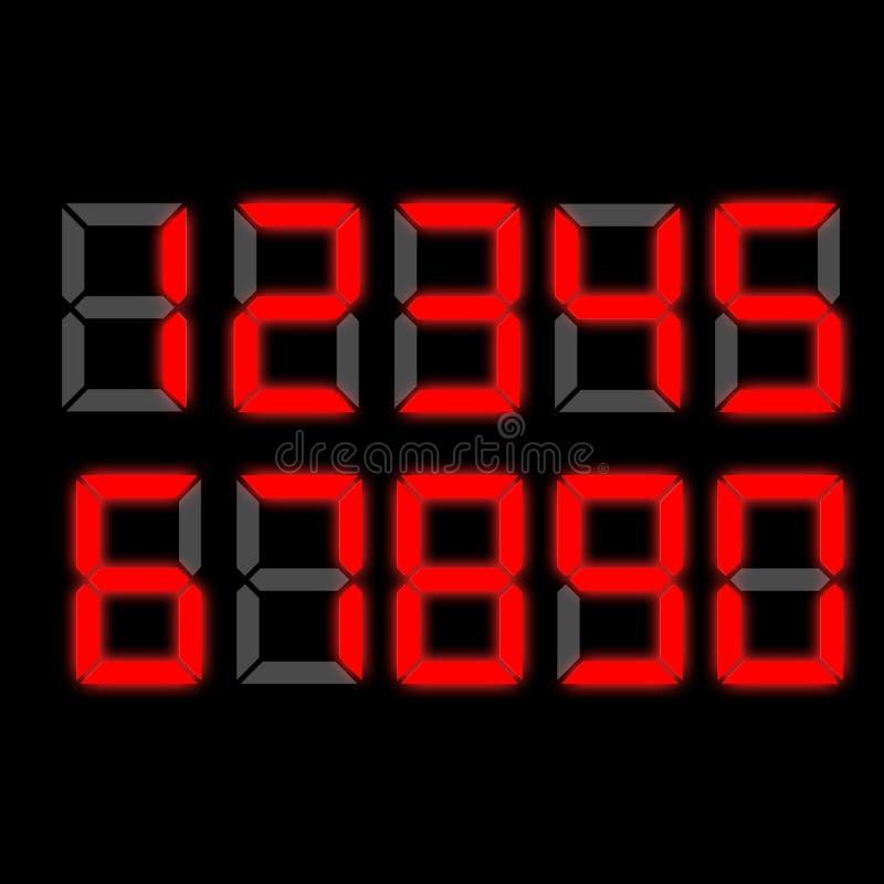 Download Zegarowe cyfrowe liczby ilustracji. Ilustracja złożonej z kwadrat - 13334876
