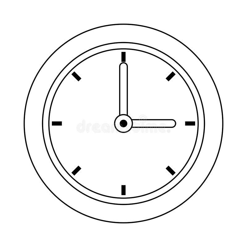 Zegarowego czasu kreskówka royalty ilustracja