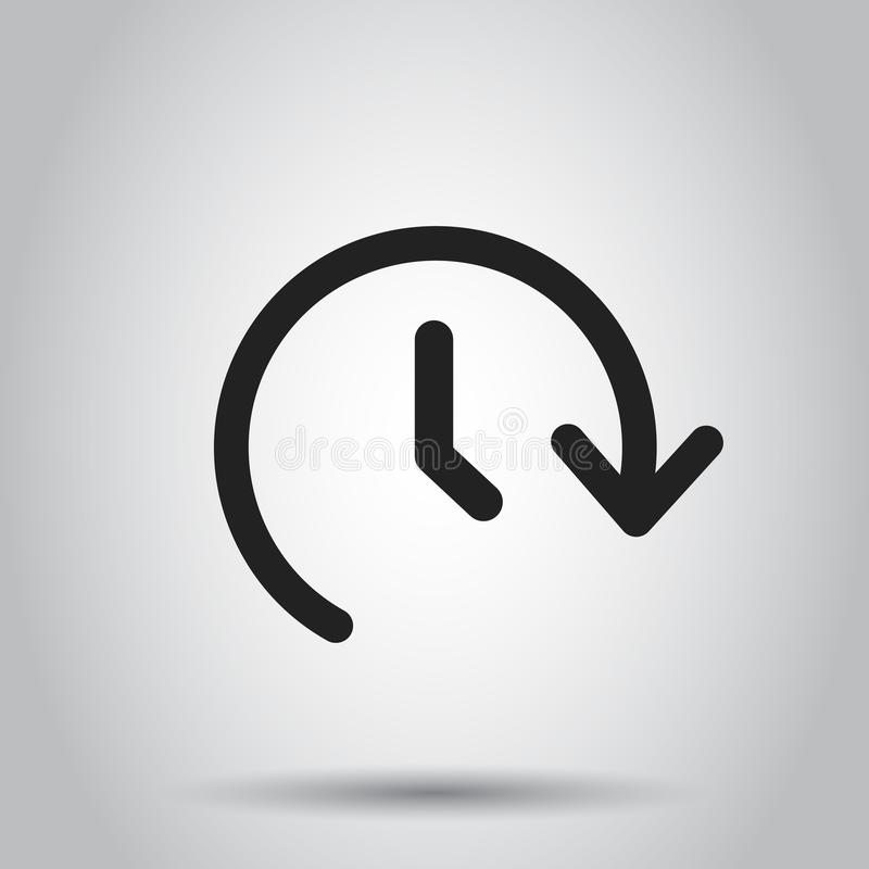 Zegarowego czasu wektoru ikona Zegar 24 godziny szyldowej ilustraci Busine ilustracja wektor