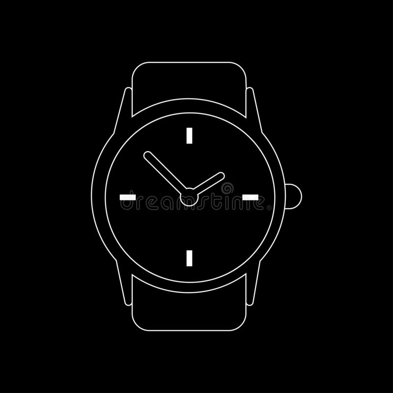 Zegarowego zegarka ikona ilustracji