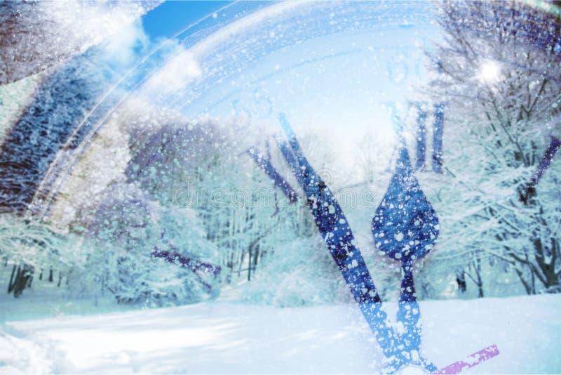 Zegarowy śnieg zdjęcia royalty free