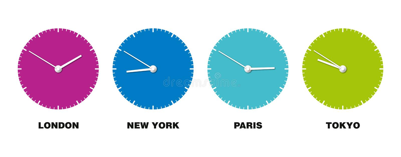 zegarowy świat royalty ilustracja