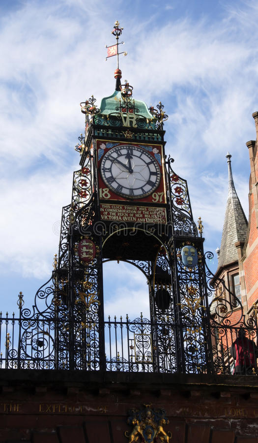 zegarowy Chester eastgate fotografia royalty free
