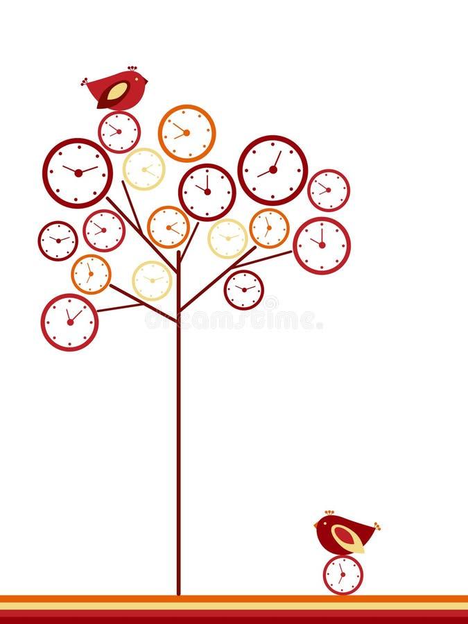 zegarowy drzewo royalty ilustracja