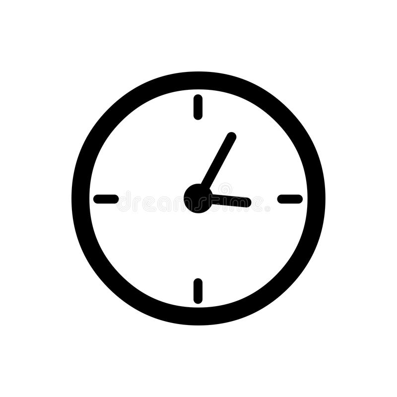 Zegarowy ikona wektor Woluminu logo ilustracji