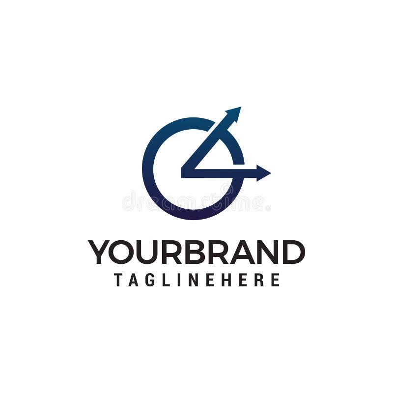 Zegarowy logo projekta pojęcia szablon ilustracja wektor