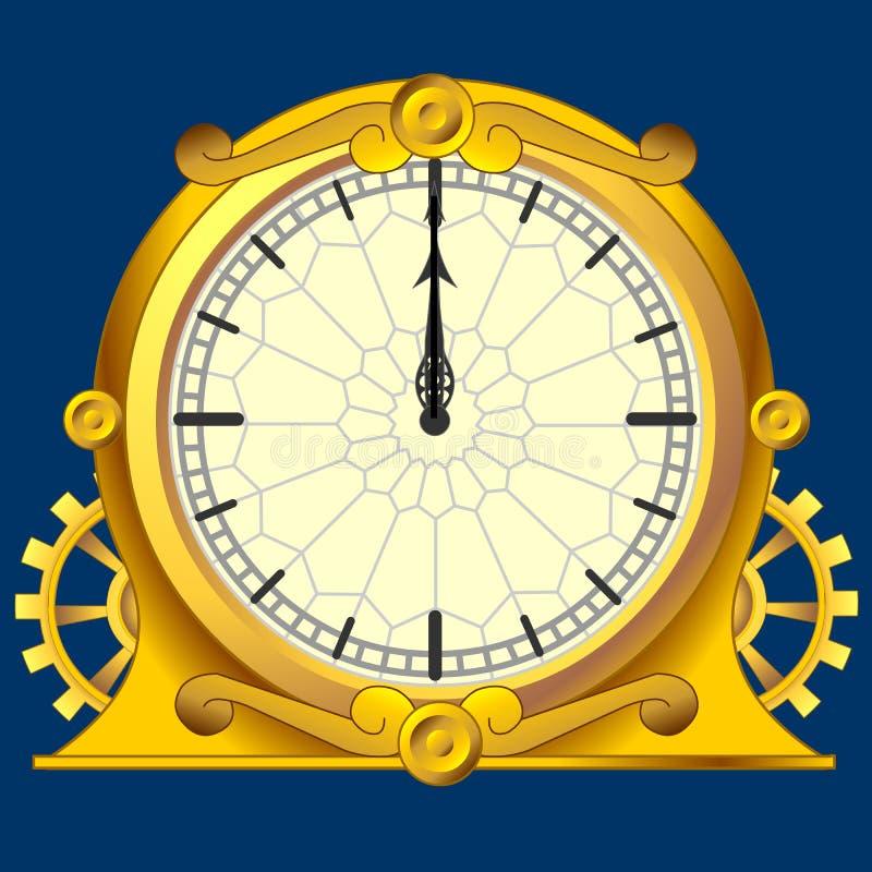 zegarowy magiczny rocznik ilustracja wektor