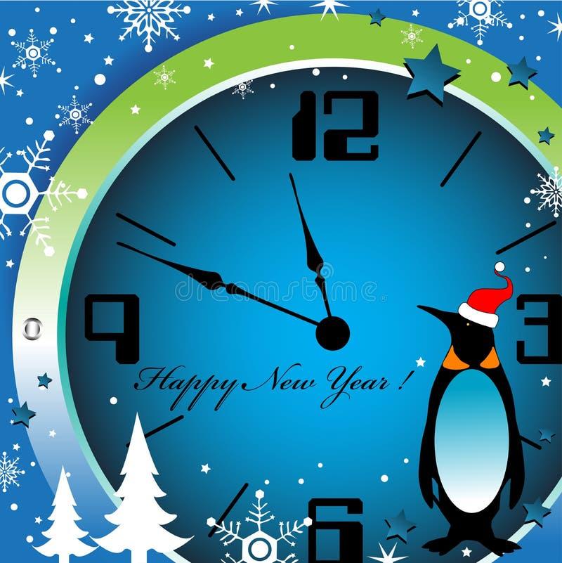zegarowy nowy rok royalty ilustracja