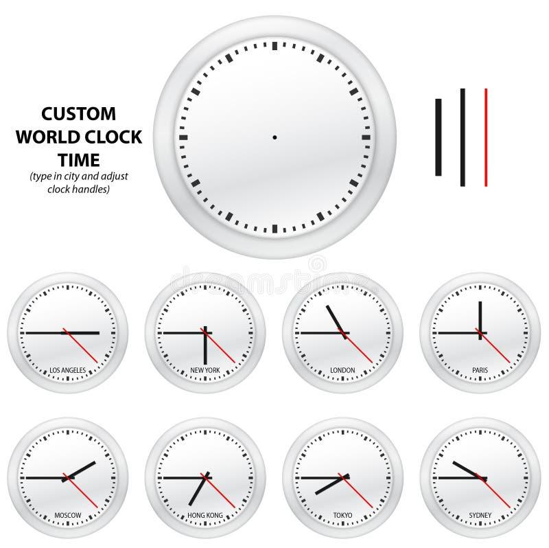 zegarowy obyczajowy wydania czas wektoru świat royalty ilustracja