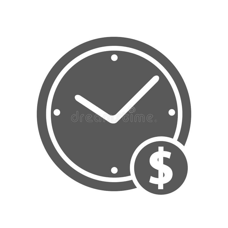 Zegarowy pieniądze ikony wektor prosty royalty ilustracja